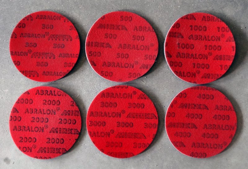Assorted abrasive pads