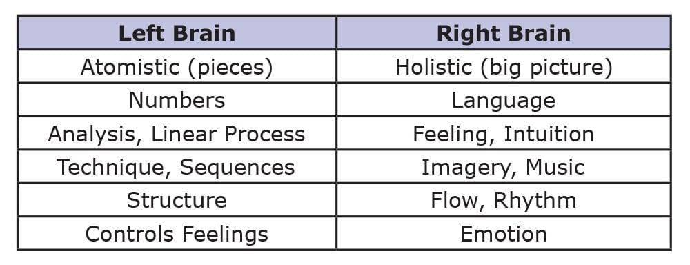 brain characteristics