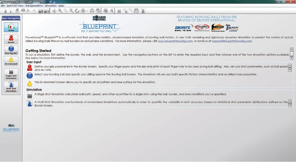 figure 1 blueprint software home screen