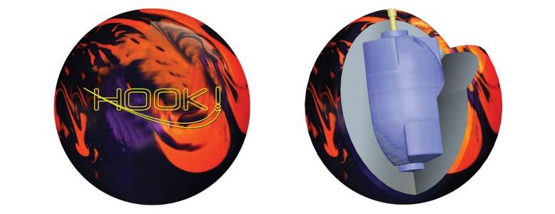 900 Global Hook! Orange/Purple Pearl