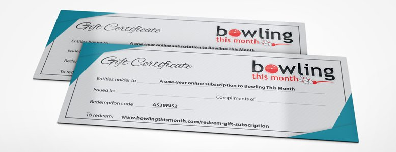 Bowling This Month Gift Certificate